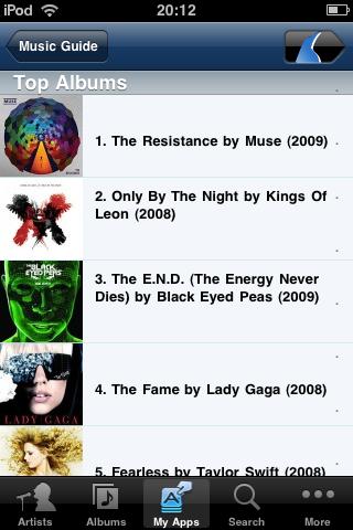 Rhapsody album list