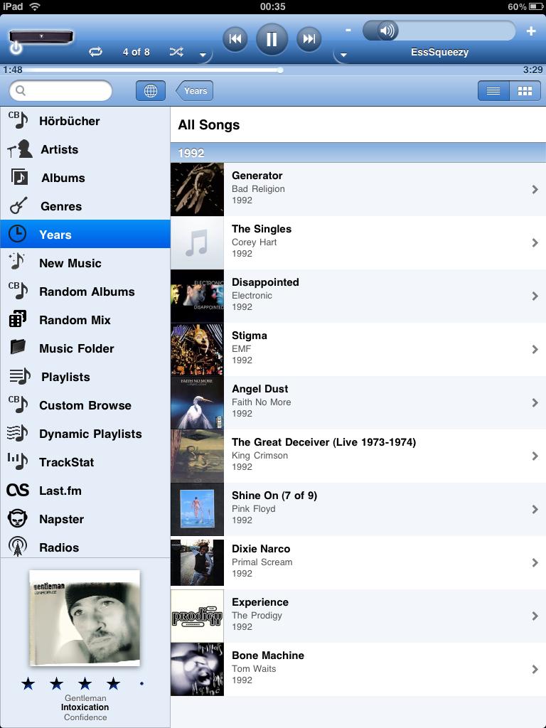 Albums - List View