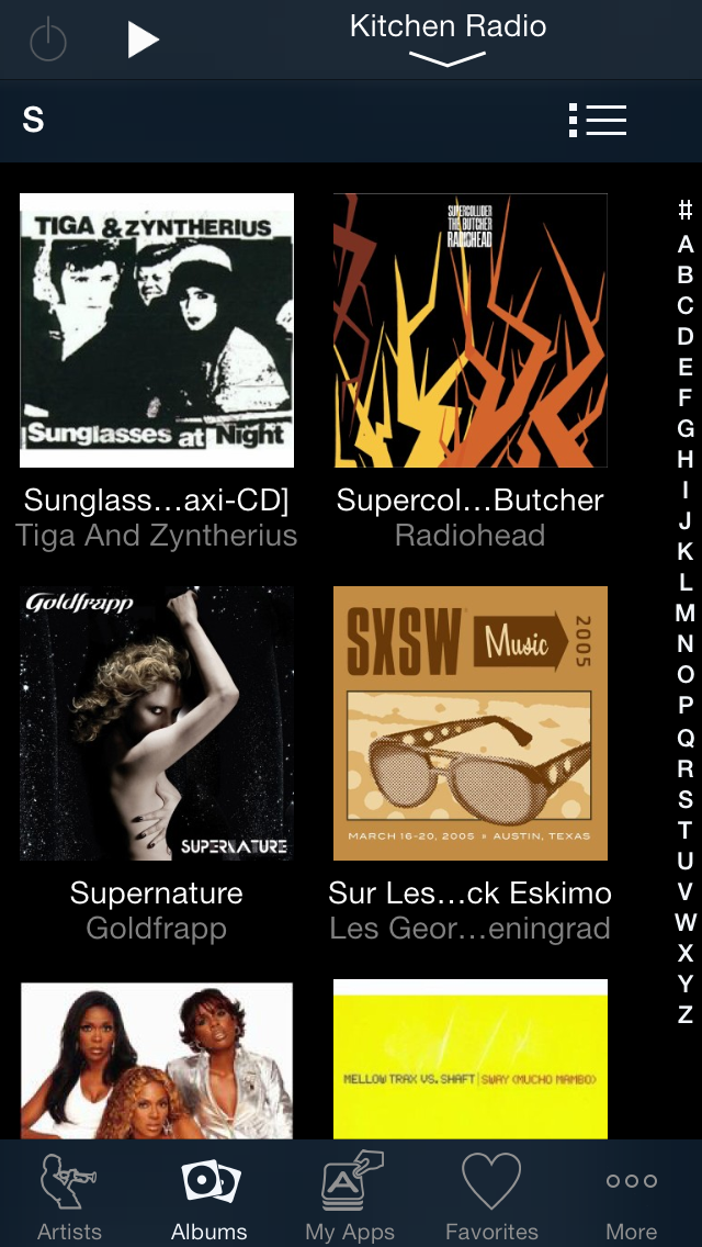 Albums in Tile View