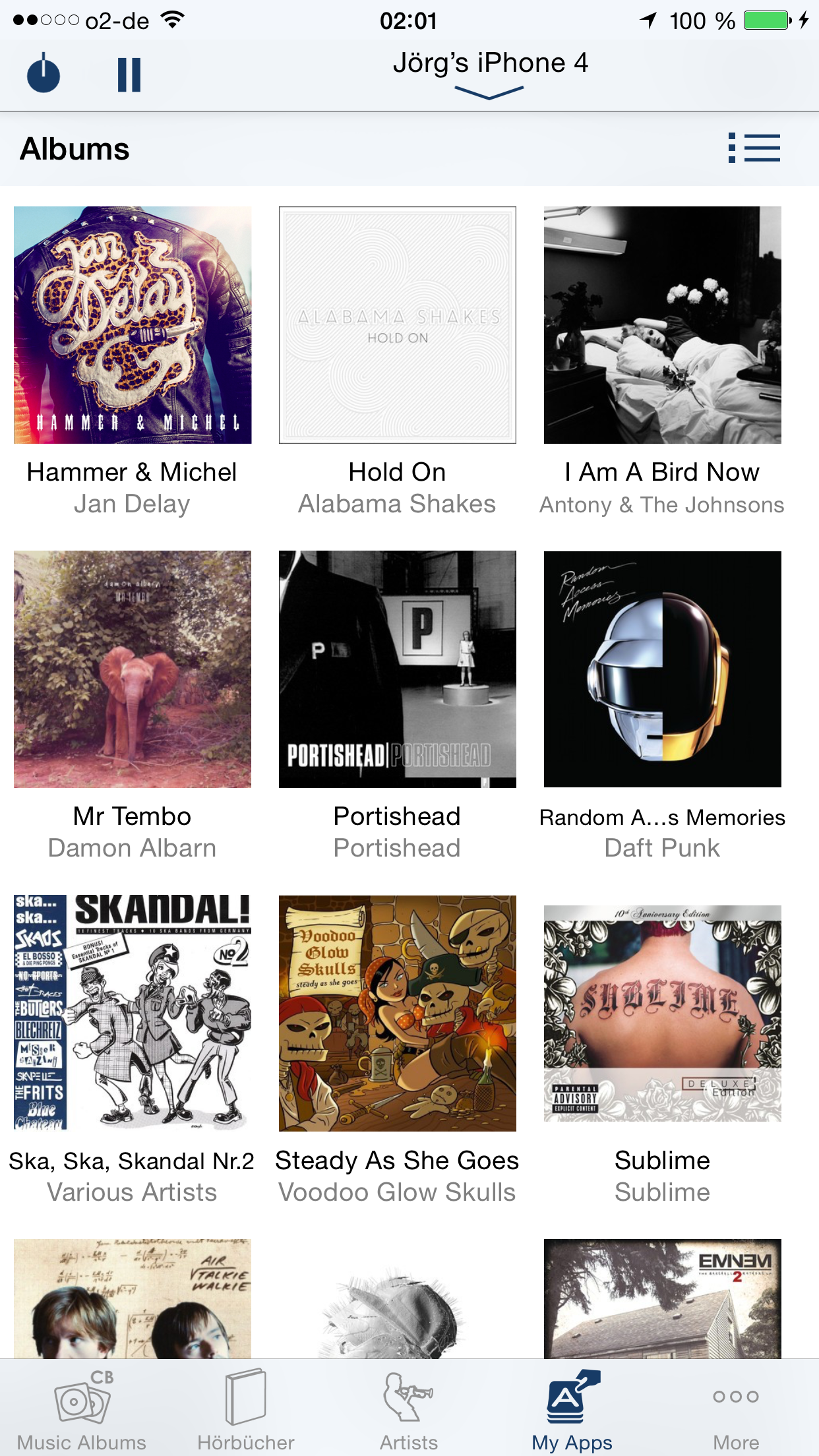 Albums on iPhone 6 Plus