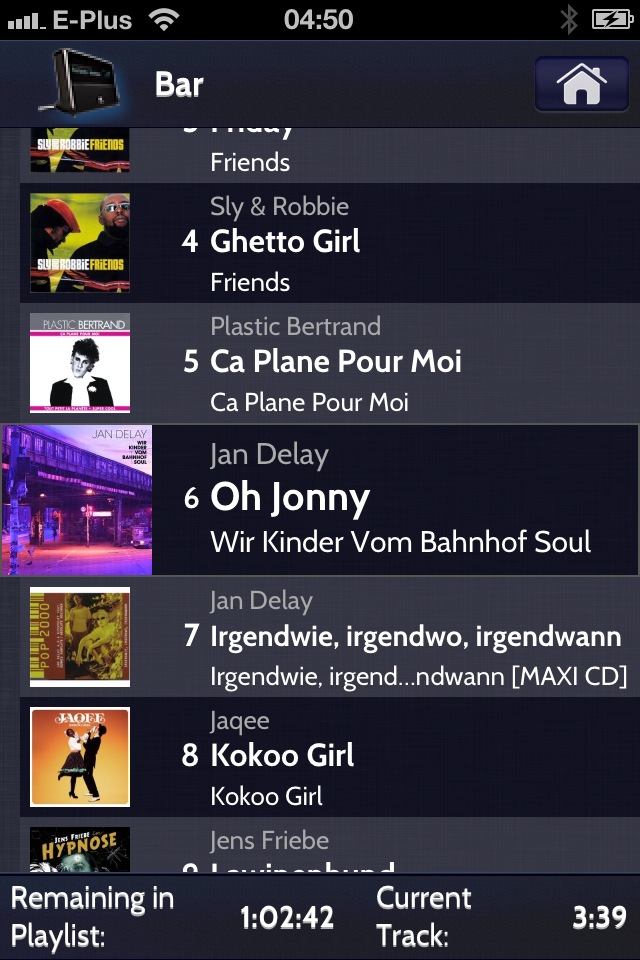 Current Playlist on iPhone