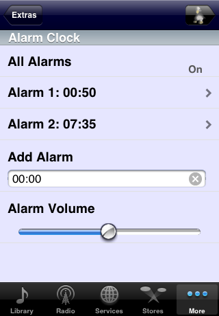 Alarms on SqueezeNetwork
