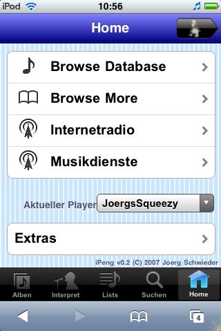 Main Menu - German Version with Player Selector