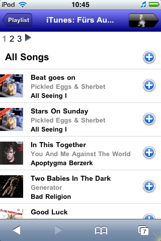 iTunes Playlist - Details View
