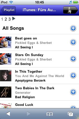 iTunes Playlist - Details View