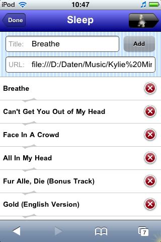 Playlist - Edit View